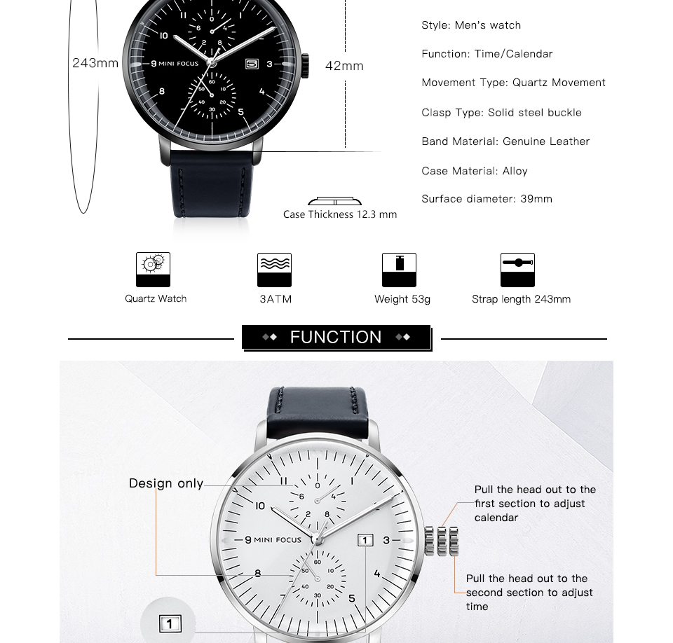 HTB1ObnRjpGWBuNjy0Fbq6z4sXXa8 MINI FOCUS Mens Watches Top Brand Luxury Quartz Watch Men Calendar Bussiness Leather relogio masculino Waterproof reloj hombre