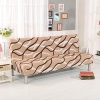 Folding Sofa Cover Elastic Wavy Line Tight Wrap Couch Funiture Sofa Bed Cover Without Armrest Sofa