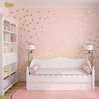 55 pièces arc-en-ciel multicolore bricolage confettis à pois cercles autocollant mural pour salon chambre Vinly PVC stickers muraux décor à la maison