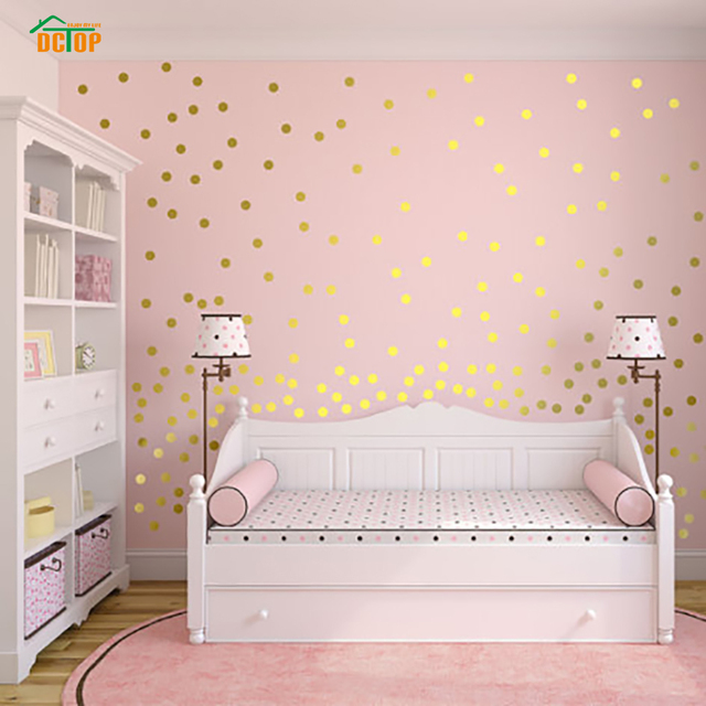 55pcs rainbow multi color diy confetti polka dots circles wall