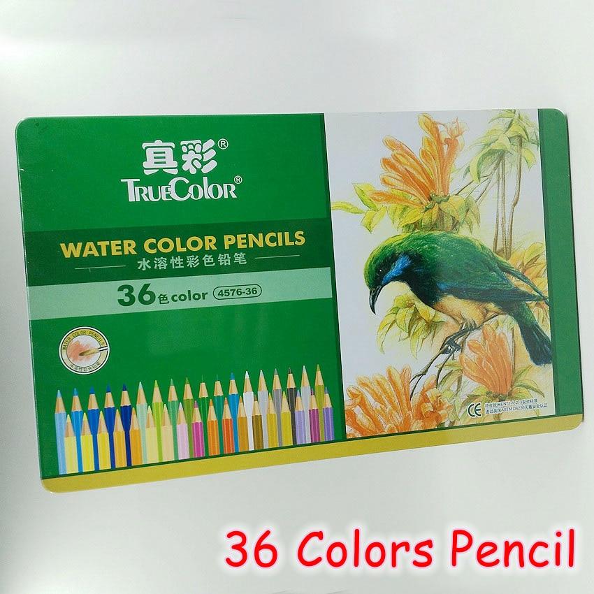[TrueColor] 36 Colors/Box Water Color Pencils Sets Painting Colorful Watercolor Pen Professional Drawing Supplies 4576-36