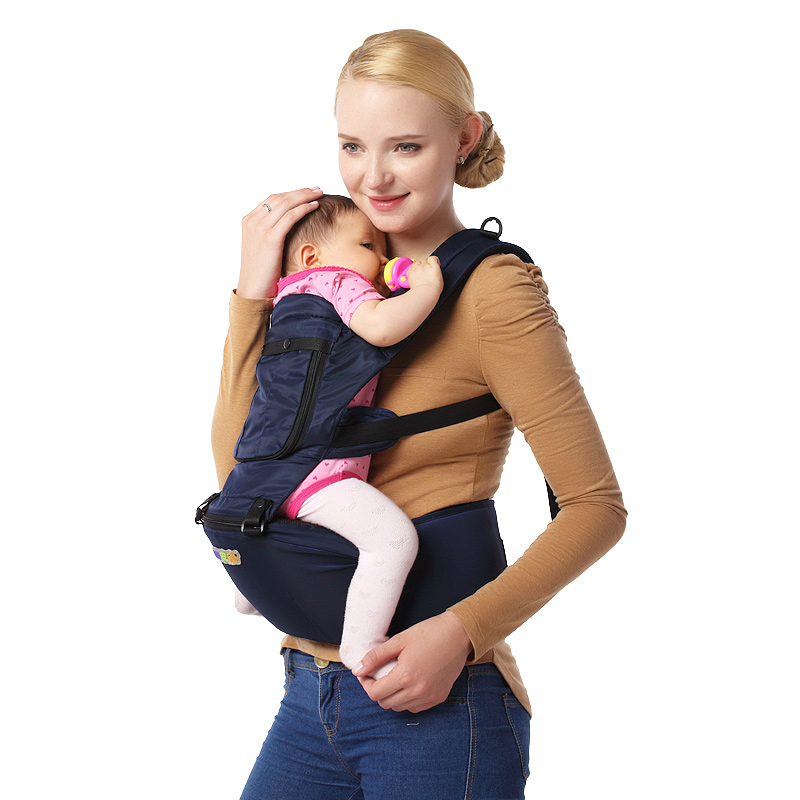 New Arrives Baby Hip Seat Breathable Soft Backpack Baby Hipseat With Belt Sling Kids Infant Carrier Double-shoulder Baby Bag baby carrier new design kids waist stool walkers baby sling hold waist belt backpack hipseat belt kids infant hip seat zl438