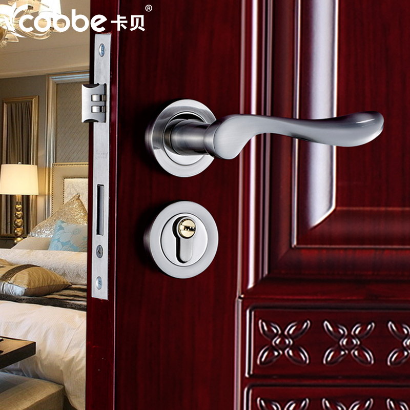 Top quality brand European style Bedroom door handles locks with key ...