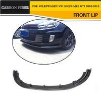 Carbon Fiber Car Front Bumper Lip Splitter for Volkswagen VW Golf 6 MK6 GTI 2010 2013