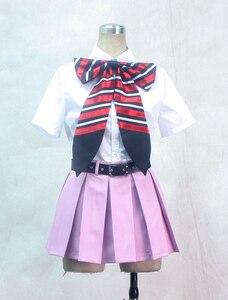 Image 2 - S 3XL peut être personnalisé Anime Ao pas exorciste Cosplay homme femme Halloween Cos Shiemi Moriyama école uniforme Cosplay Costume