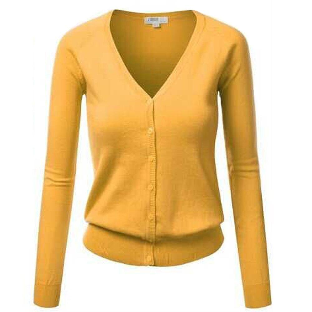 Online Shop Button Up Cardigan Winter Jacket Women'S Sweaters Long ...