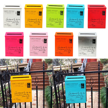 Box Post-Box Mailbox Newspaper-Holder Letter Garden Wall-Mounted Home Villa for Outside