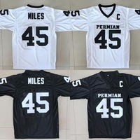 Boobie Miles 45 Friday Night Lights American Football Jerseys Throwback Stitched White Black Jersey Men S