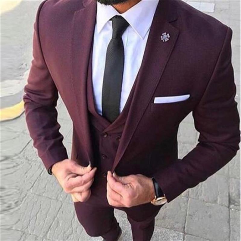 Distribute Grand delusion mainly  Dark Red Shawl Lapel Formal Men Suit 3 Pieces(Jacket+Pant+Vest+Tie) Latest  Coat Pant Designs Skinny Groom Blazer Custom M n Suits  - AliExpress