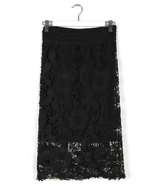 Encaje más el tamaño 6 XLFloral falda Office Party tarde Bodycon Pencil Skirt verano Saias estilo 7XL tamaño más mujeres falda de Midi