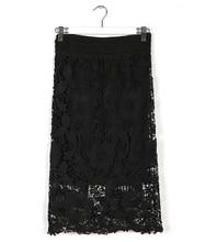 Plus Size Lace 6XLFloral Skirt Office Party Evening Bodycon Pencil Skirt Summer Style Saias 7XL Plus Size Women Midi Skirt