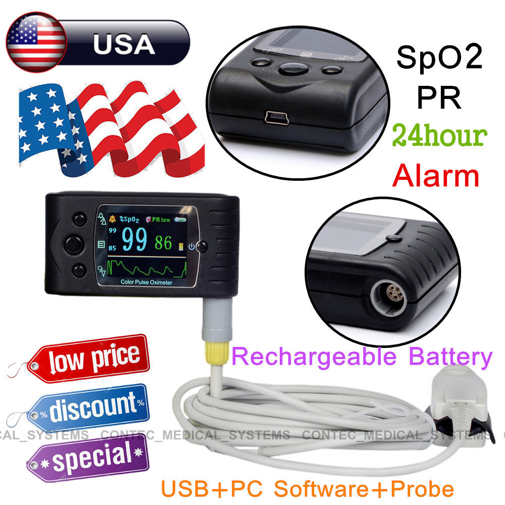 CONTEC  FDA New CMS60C fingertip pulse oximeter+PC software,SPO2 PR patient MonitorCONTEC  FDA New CMS60C fingertip pulse oximeter+PC software,SPO2 PR patient Monitor