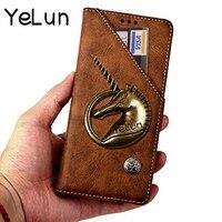 YeLun For ZTE Nubia M2 Case Cover 5 5 Hight Quality Retro Unicorn Flip Leather Case