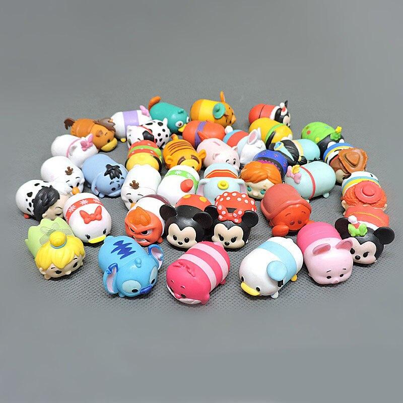 10/20/30 pçs/set Não Repetir Tsum Cores Mickey Minnie Natal Estilo Empilhador Pilhas De Música de Ação de Paternidade figura de Brinquedo de Presente