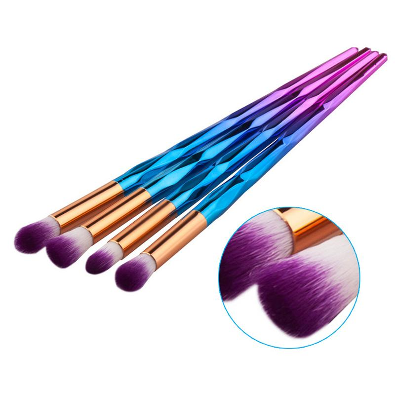 Image 2 - 4PCS Makeup Brush Set Eyeshadow Eye Concealer Brush Eye Makeup Brushes Kit Easy To Use And Portable-in Eye Shadow Applicator from Beauty & Health