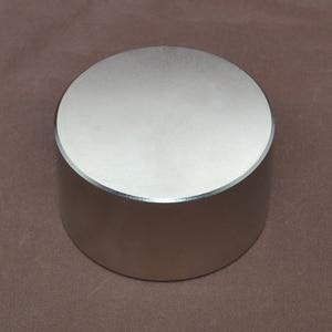 Image 2 - 1pcs N52 Neodymium magnet 70x40 mm gallium metal hot super strong round magnets 70*40 powerful permanent magnets