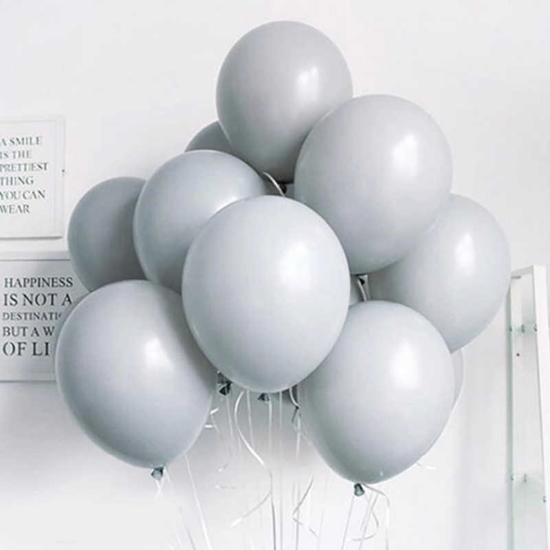10pcs lot Gray Macaron Pastel Balloons Decoration  Baby Shower House wedding party birthday decoration supply 10 inch