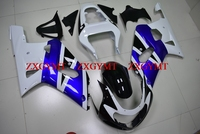 Обтекатели для GSX R600 R750 R1000 2000 2003 K1 2 тела Наборы GSXR 600 750 1000 03 02 белого и синего цвета черный 03 02