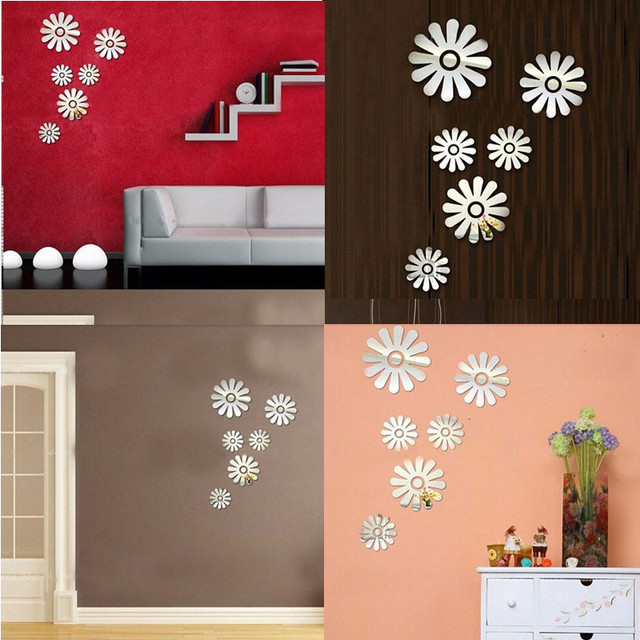 1set Flower Wall Stickers Bedroom Room Pvc Decal Mural Arts Diy Home
