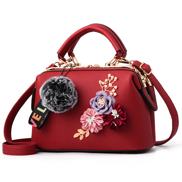 bab867a6b7f MONNET CAUTHY 2018 New Bags for Women Classic Flower Fashion Ladies Handbags  Color Blue Red Khaki