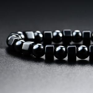 Ожерелье из черного гематита для мужчин и женщин, магнитная терапия, уход, магнит, ожерелье для здоровья, подарок KQS8