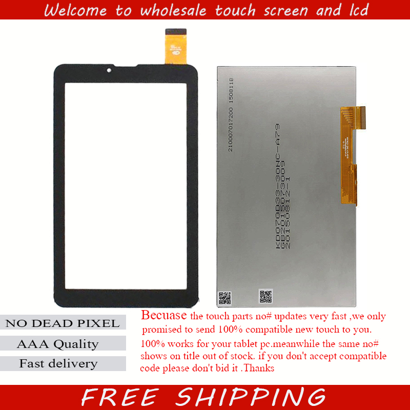 New lcd display touch screen panel Digitizer Glass Sensor replacement 7 inch Digma Optima E7.1 3G TT7071MG Tablet Free Ship new touch screen digitizer 7 texet tm 7096 x pad navi 7 3 3g tablet touch panel glass sensor replacement free shipping