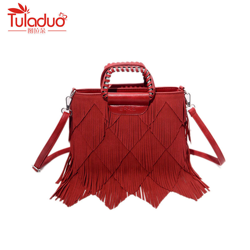 Fashion Women Bag Tassel Handbags High Quality Pu Leather Messenger Bag Causal Totes Ladies Crossbody Bags For Women Tote Bag hanup new high quality women clutch bag fashion pu leather handbags flap shoulder bag ladies messenger bags crossbody purse