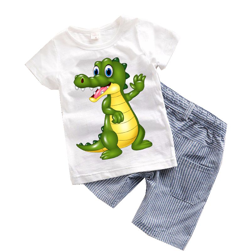 b03d6c176316 2PCS Suit Baby Boy Clothes Children Summer Toddler Boys Clothing set  Cartoon 2017 New Kids Fashion Cotton Cute Animal Sets T20-in Clothing Sets  from Mother ...