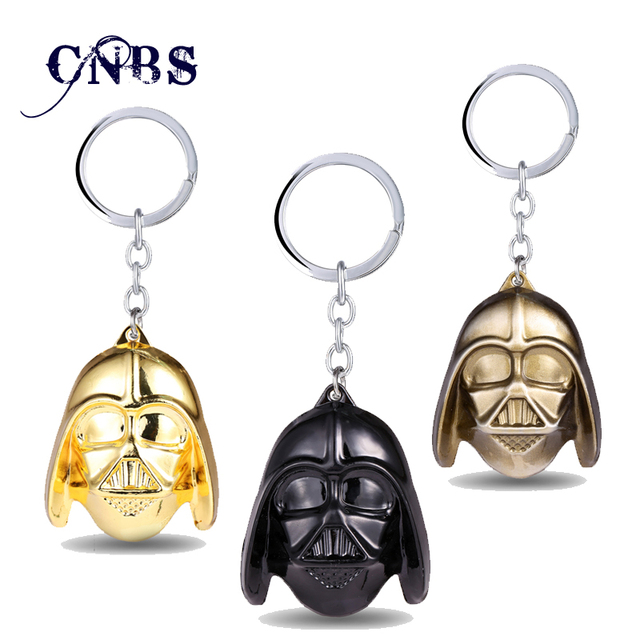 7591f25b603a5 Hot movie Star Wars Darth Vader Mask Keychain Alloy Metal Key Rings For  Women Men Chaveiro can