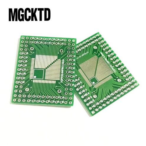 QFP32 QFP40 QFP48 QFP56 QFP64 0.5//0.8mm SMD to DIP Breakout Board Pack of 5