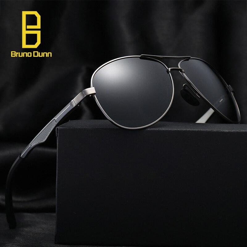 Bruno Dunn aluminio polarizado gafas de sol hombres de marca de lujo diseñador gafas de sol rayos zonnebril mannen lunette de soleil homme