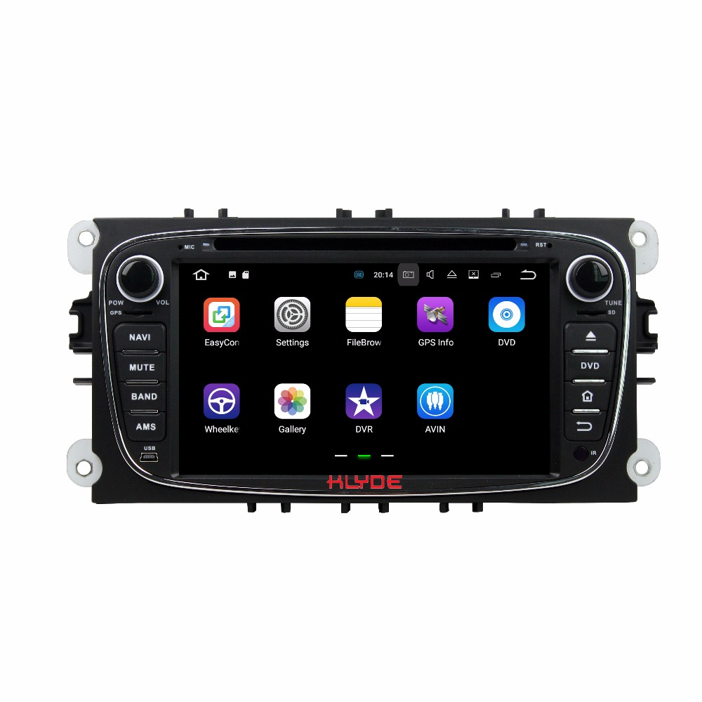 KLYDE 2 Din 7 Car Multimedia Player Android 7.1 For Ford Mondeo 2007-2010 Car Radio Stereo Car DVD Player Free MAP Built Wifi