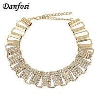 Danfosi Luxury Shine Rhinestones Statement Necklaces For Women Fashion Collar Choker Maxi Jewelry Chunky Necklaces Torques