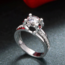 Lady's Fashion Zircon Wedding Ring Engagement Jewelry Accessory BEGN