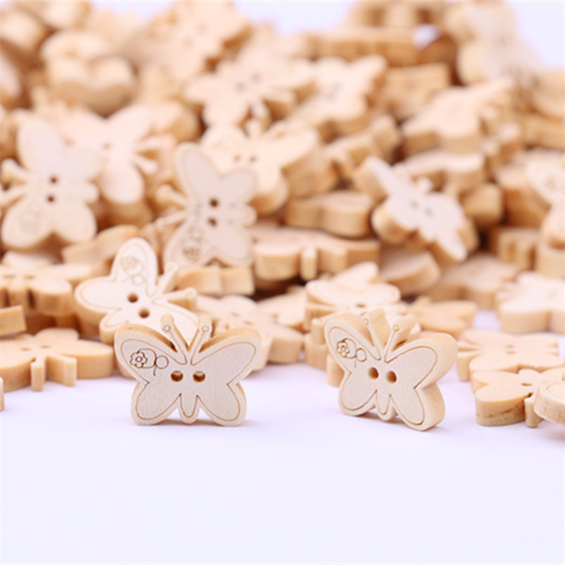 Arts,crafts & Sewing Cute Things Carving Sewing Wooden Button Car Mix Color 100pcs 20*11mm Children Handmade Diy Christmas Decorative Girls Boys Toys Large Assortment Home & Garden