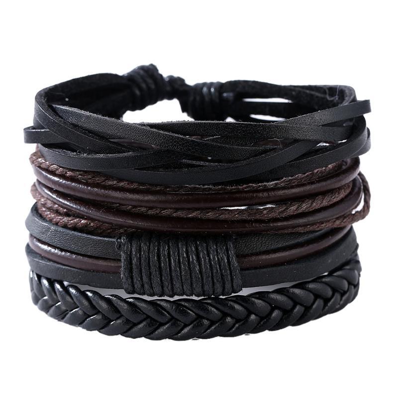 Bohemian Vintag Handmade Braided Leather Bracelets & Bangles multilevel leather bracelets for Men/Women Retro 2018 Jewelry Gift