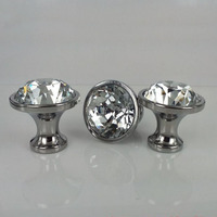 New 10pcs 30mm K9 Crystal Cabinet Knobs Furniture Drawer Handles Wardrobe Pulls Cupboard Shoes Box Knobs