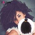7A Pelo Rizado Rizado Mongol Afro Rizada rizada Virginal Del Pelo Humano pelo Teje Natural Color Negro Puede Tienda Oficial En Stock