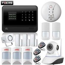Fuers WiFi GSM GPRS SMS OLED Kit HD IP Cámara de Seguridad Inicio Sistema De Alarma GSM alarma sytem con Español/ruso/Inglés/Francés