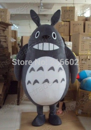 High quality Totoro Plush Mascot Costume Adult Size Fancy Dress Suit Free Shipping