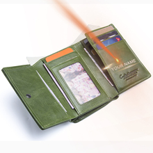 Купить с кэшбэком 2018 New Fashion Design Women Wallets Genuine Leather Trifold Purse With Zipper Card Photo Holder Wallet For Woman High Quality