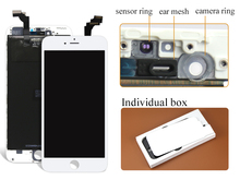 10PCS/LOT Replacement Wholesale Repair Parts For iPhone 6 Plus LCD Screen Display And Digitizer Assembly Free Shipping DHL