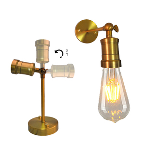 Image 2 - Nordic Creative Adjustable E27 Wall Light Retro Iron Gold Bronze Aisle Wall Lamp For Restaurant Bar Cafe Bedroom Apartment Hotel