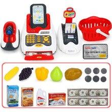 Lovely Children Pretend & Play Toys Classic Supermarket Cash Register Kits for K