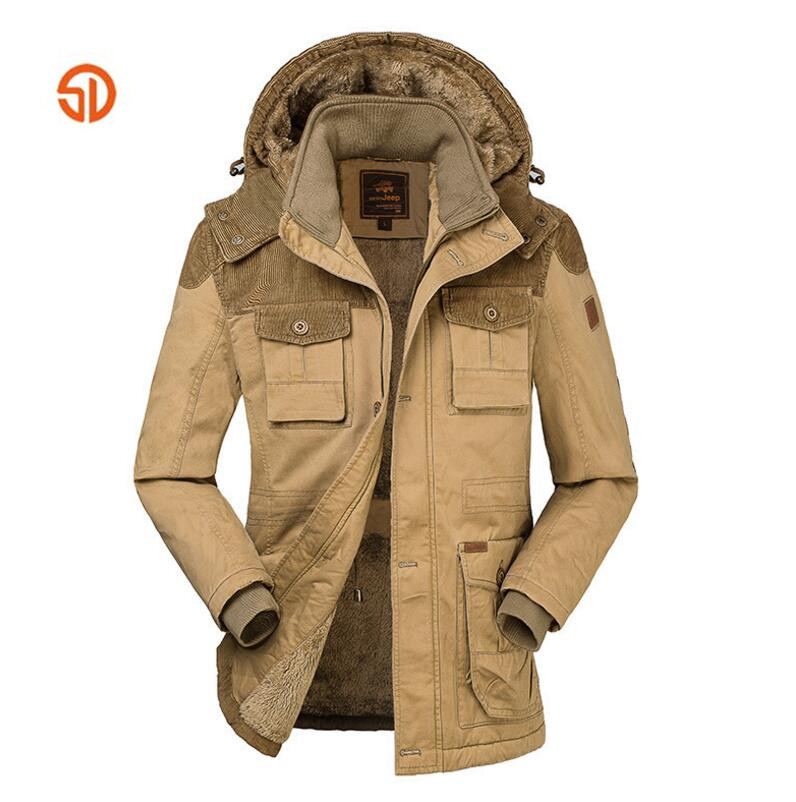 Winter Outdoor Hiking skiing Men Thick Fleece Jacket Camping Keep Warm Long Coat Outwear Velvet Male Hooded windbreaker Coats коляска прогулочная hauck swift melange beige caviar