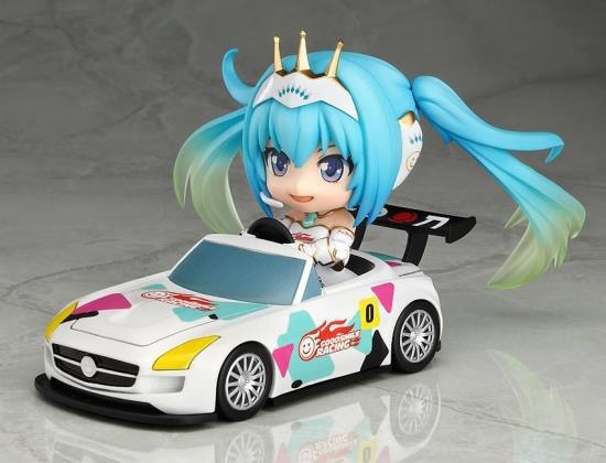 Anime Hatsune Miku Racing Miku Cute Nendoroid 517# PVC Action Figure Collectible Model Toy 4 10cm KT1768