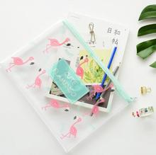 Lovely Flamingo A4 A5 B6  File Bag Document Bag A4 File Folder Stationery Filing Production