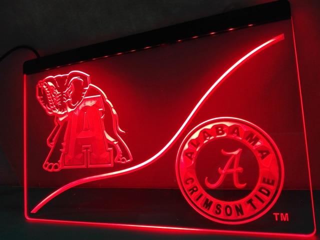Ld527 Alabama Crimson Tide Led Neon Light Sign Home Decor Crafts