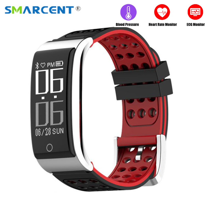 E09 ECG+PPG Smart Bracelet Blood Pressure Heart Rate Monitor Fitness Tracker Smart Band IP67 Waterproof Bluetooth Wristband цена 2017