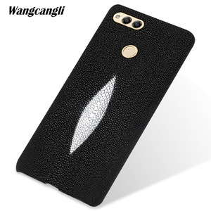 Image 1 - Custom pearl leather phone case For HUAWEI honor 7X case pearl half pack mobile phone case mobile phone case For HUAWEI Honor 10
